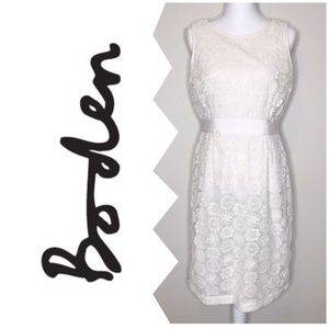 Boden Crochet Lace Overlay Sheath Dress